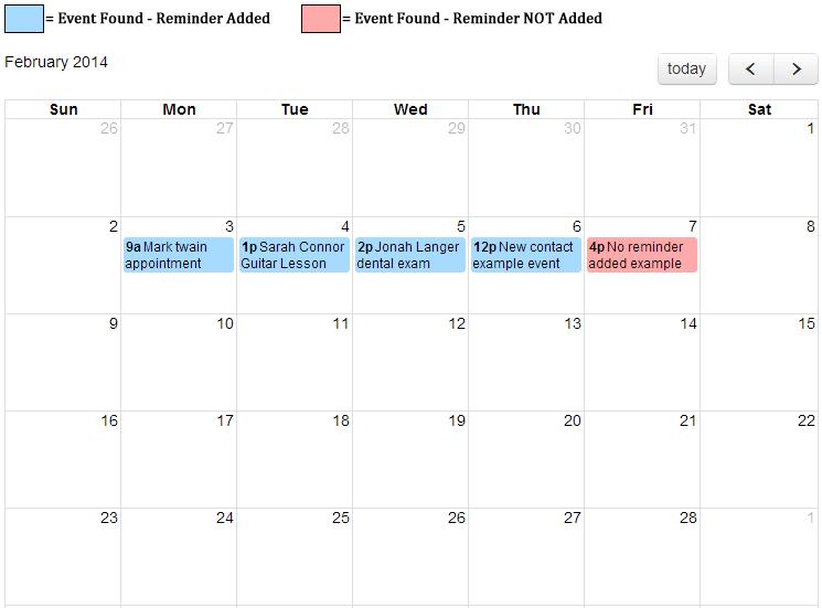 Calendar Event View