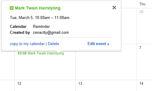 Google Calendar Appointment Reminder Title