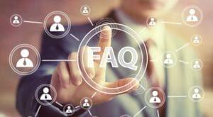 FAQ floating icons