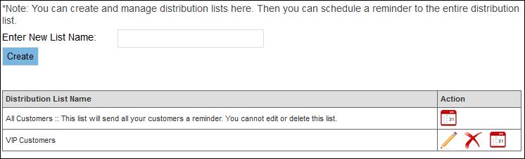 Distribution Lists