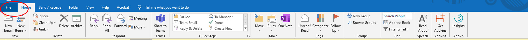 Export Contact List From Outlook 1 - Choose File