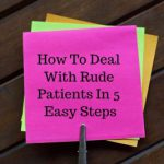 rude patients graphic of multi-colored post-it notes