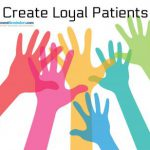 create loyal patients graphic of animated colored hands