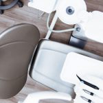 arial view of a dentist office patient chair
