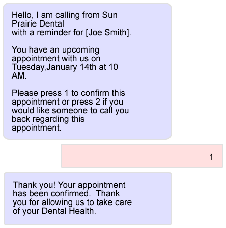 Appointment Reminder Phone Call Example