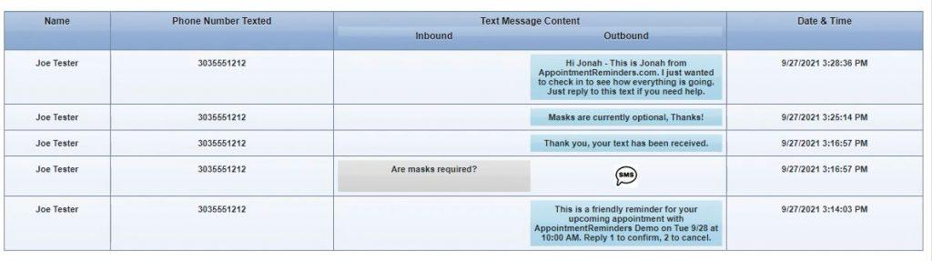 Text Messages Screen